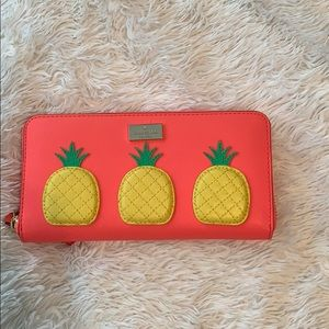 Kate Spade Pink Pineapple Wallet